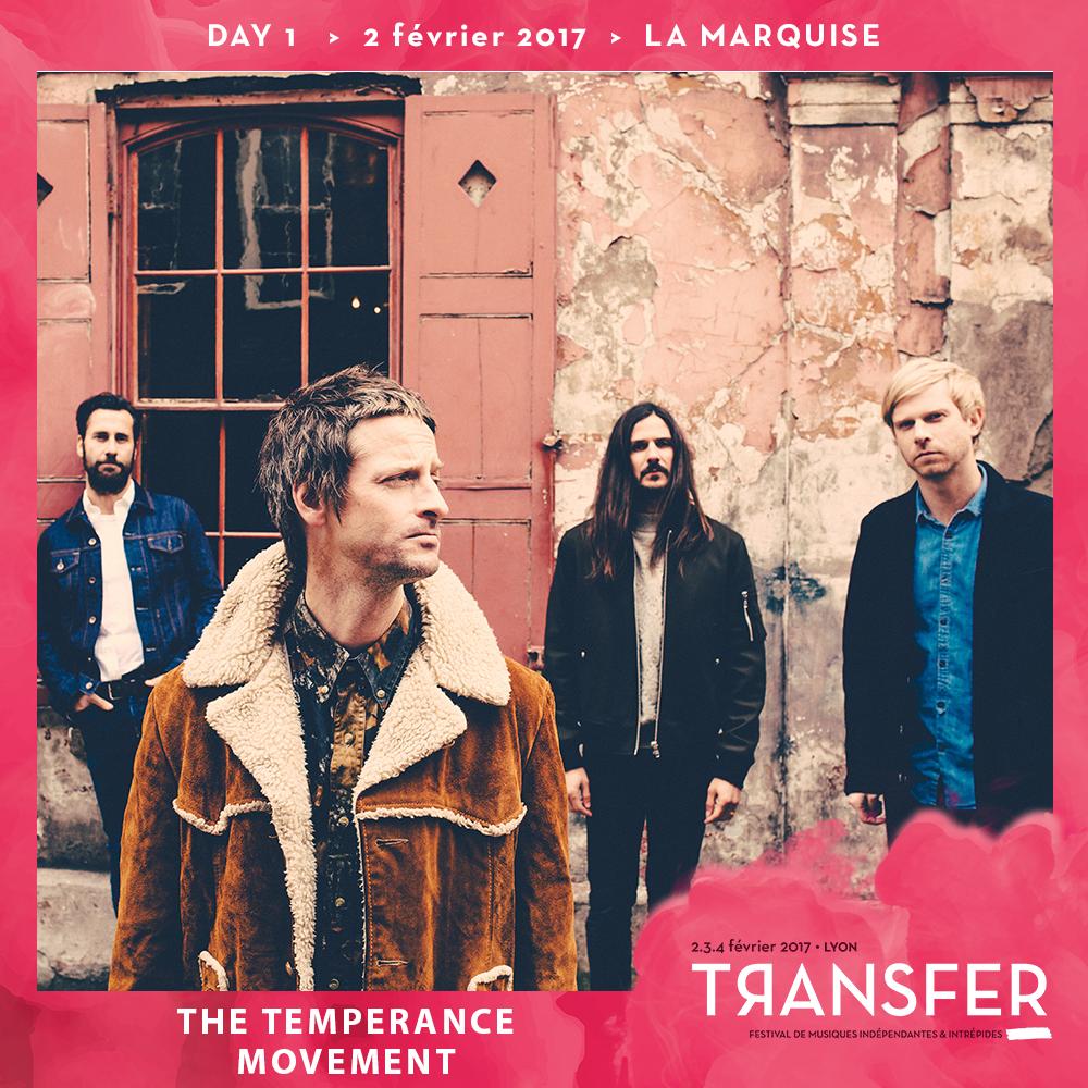 The Temperance Movement au festival Transfer avec Mediatone-Lyon