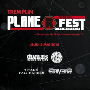tremplin Plane R fest 2018 au Hard Rock Café à Lyon