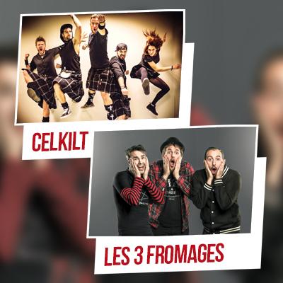 CELKILT ET LES TROIS FROMAGES en concert à Lyon avec Mediatone
