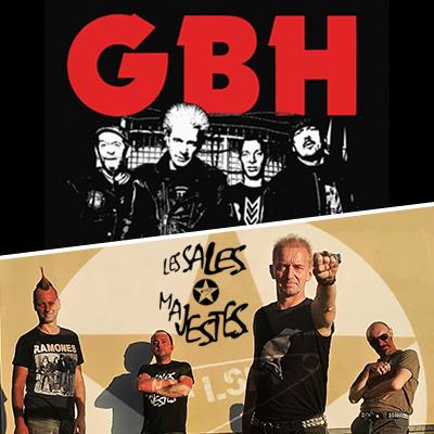 GBH et les Sales Majestés en concert à Lyon avec Mediatone