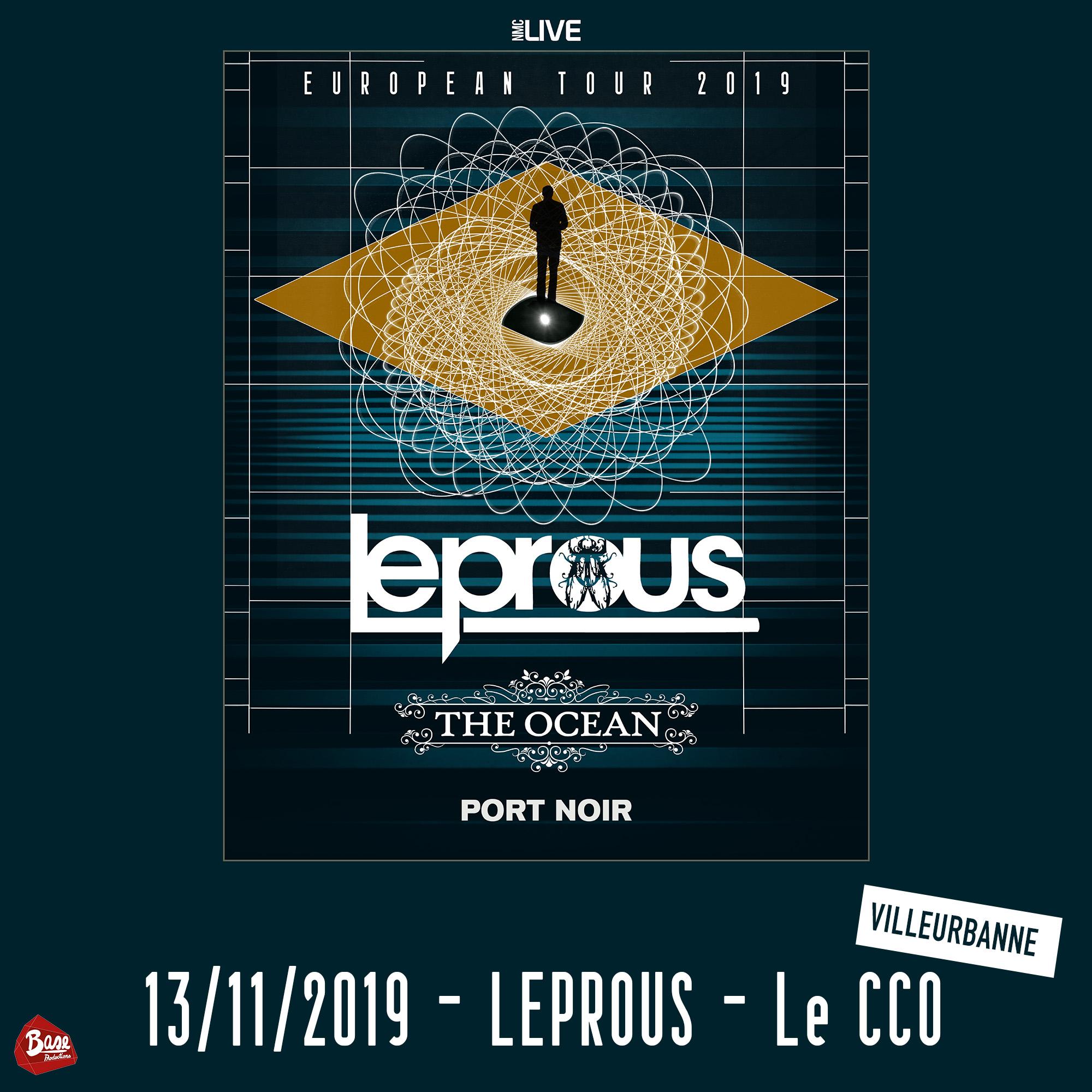 LEPROUS   THE OCEAN   PORT NOIR en concert à Lyon avec Mediatone