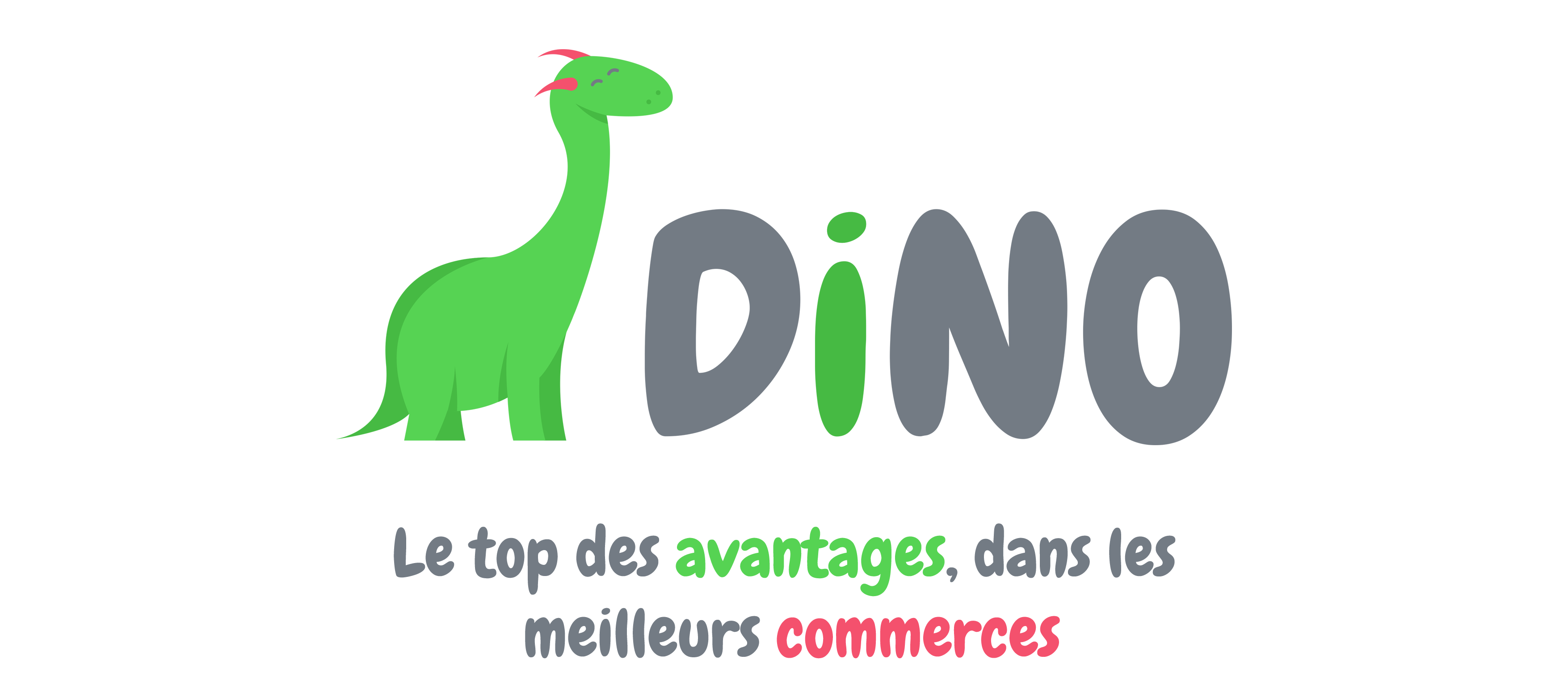 Logo de la Carte Dino suivit de leur slogan