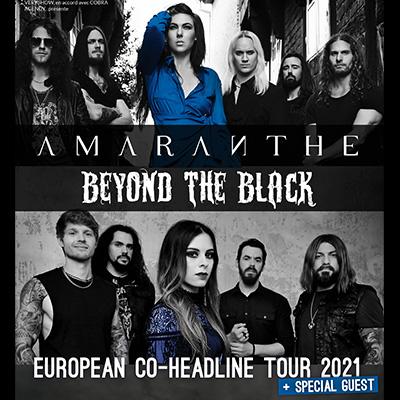 AMARANTHE   BEYOND THE BLACK en concert à Lyon