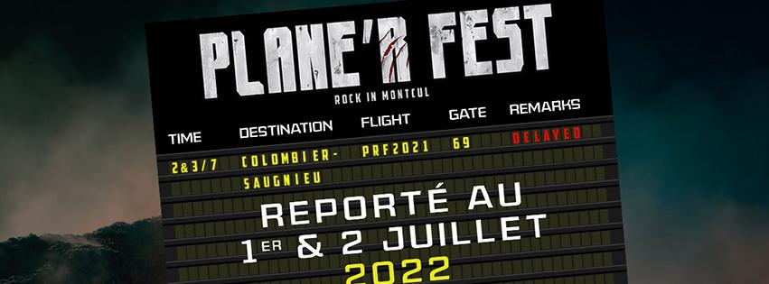 NOUVEAU REPORT DU PLANE'R FEST À 2022
