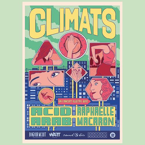 Raphaelle Macaron et Acid Arab en concert dessiné