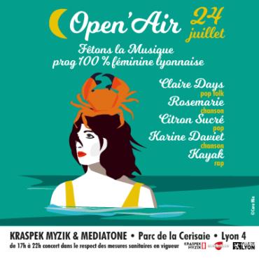 OPEN AIR FÊTONS LA MUSIQUE au Parc de la Cerisaie le 24 juillet 2021